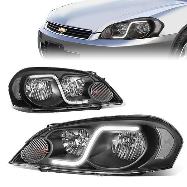 06 16 Chevy Impala Limited Monte Carlo Led Drl Headlights Black Housing Clear Corner Chevy Chevy Impala Impala