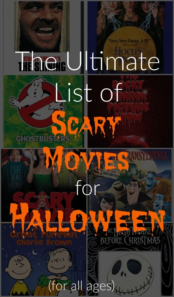 scary halloween movies of all time