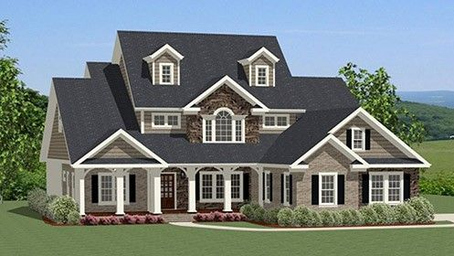Home Plan HOMEPW77327 - 2880 Square Foot, 4 Bedroom 3 Bathroom Traditional Home with 2 Garage Bays | Homeplans.com