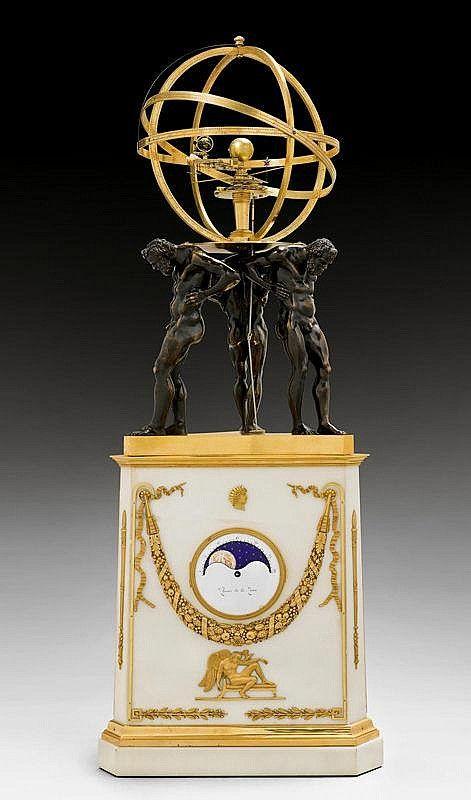IMPORTANT CLOCK 'AUX TROIS FIGURES D'ATLAS' c. 1820