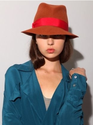 Fedora! love the spice orange and punchy red contrast