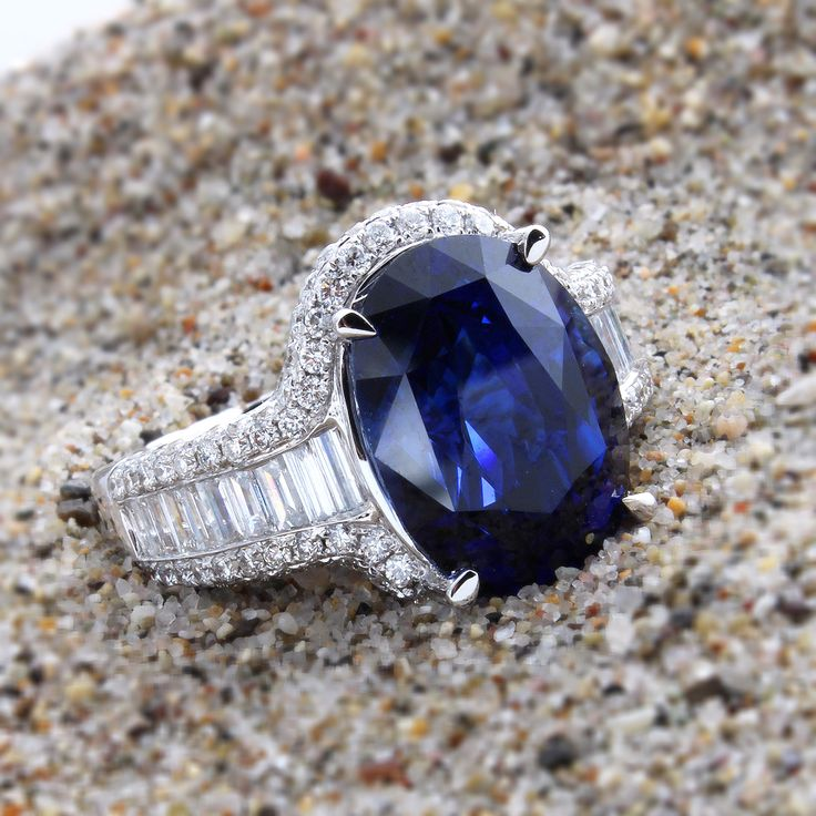 designer white ruth cocktail diamond ring a sapphire rings id gregg at classic this design j gold showcasing stunning jewelry wide l dome