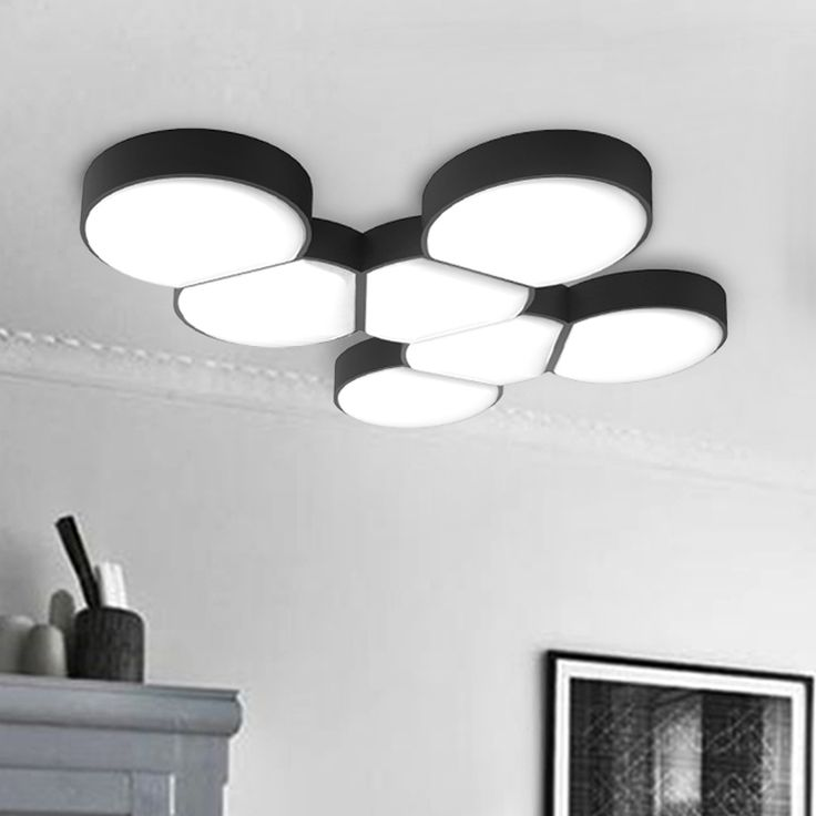 Black and white ceiling lights in different shapes adds creative appeal to your ceiling.