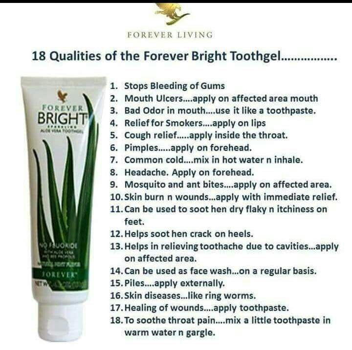 18 Uses of Forever Bright Toothgel