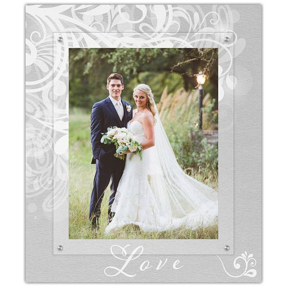 Classic White And Silver Wedding Picture Frame 11x14 Etsy Wedding Picture Frames Wedding Wedding Pictures
