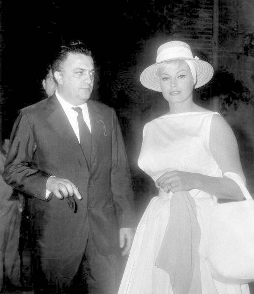 Federico Fellini with Anita Ekberg