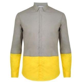 CHRISTOPHE LEMAIRE BEANPOLE Yellow Panel Detail Shirt