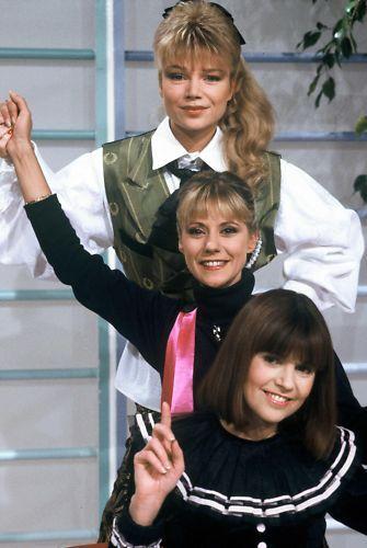 Karen Cherryl, Dorothée et Chantal Goya, les trois grâces des enfants de la télé d'autrefois.