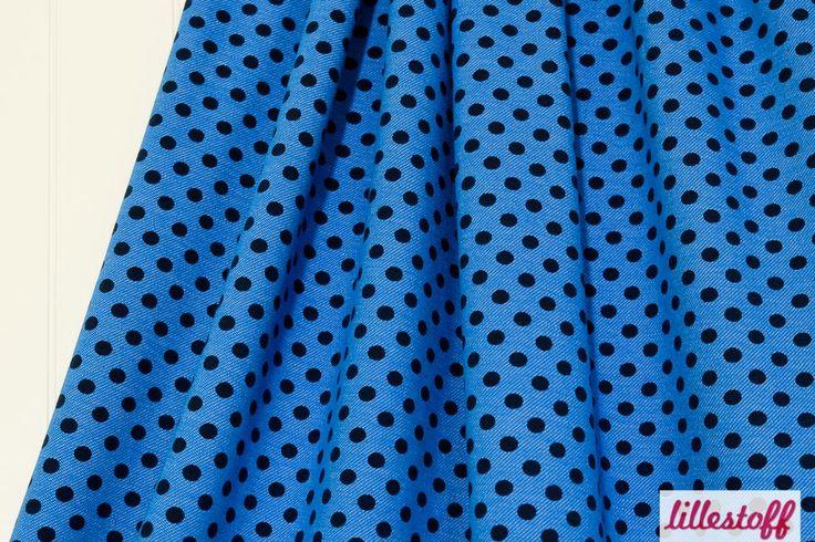lillestoff » Jeans Dotties, kobaltblau « // hier erhältlich: http://www.lillestoff.com/jeansdotties-kobaltblau-3285.html