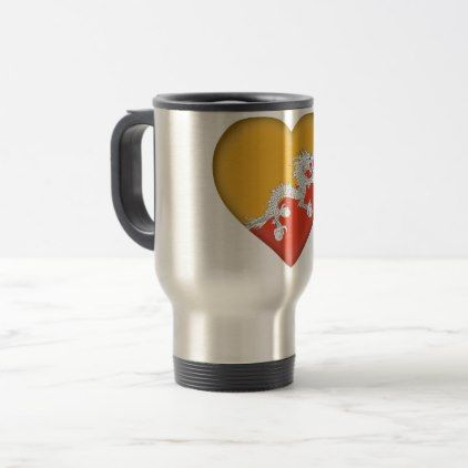 #Bhutan Flag Travel Mug - #country gifts style diy gift ideas