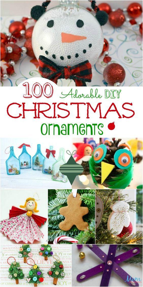 100 Adorable DIY Christmas Ornaments to Hang on Your Tree The