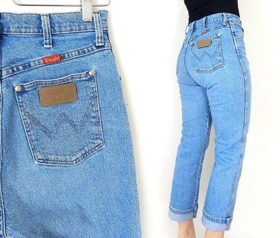 Wrangler Mom Jeans Vtg 80 S High Waist Distressed Usa 11 12 30x35 Tall Vintage Wrangler Jeans Wrangler Jeans Womens Denim Cowgirl