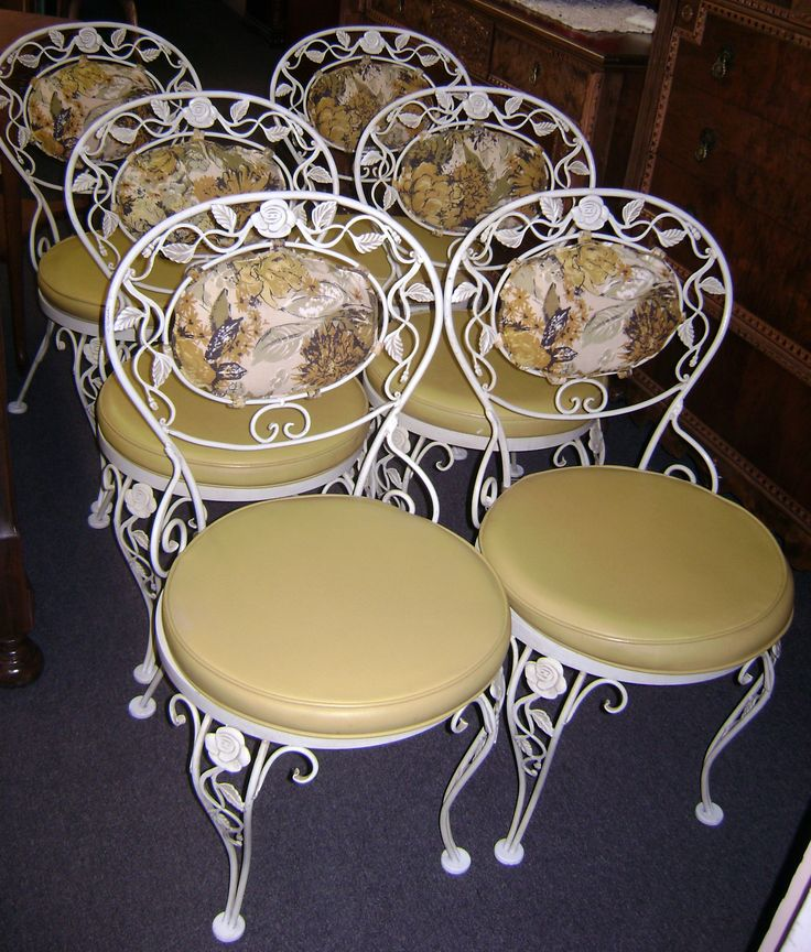 antique wrought iron chairs