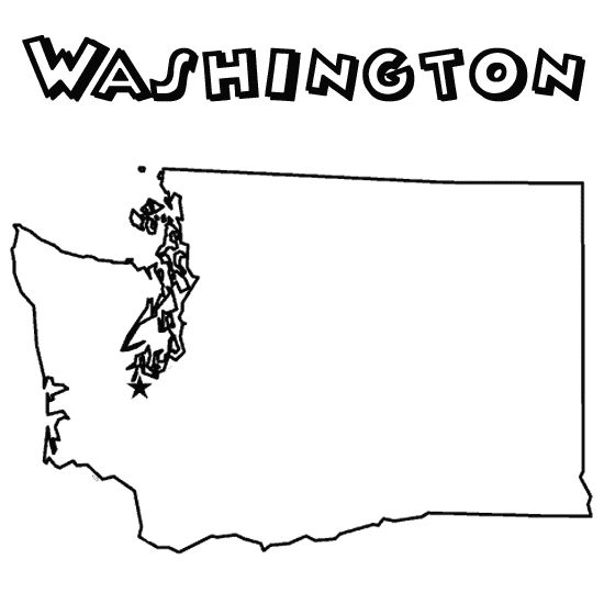 Washington state coloring pages coloring page for Washington state flag coloring page