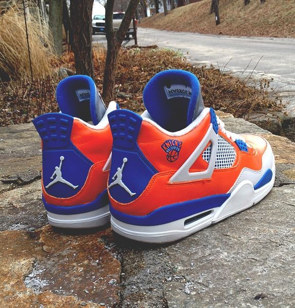 Air Jordan 4 'NEW YORK KNICKS' Custom Sneakers                                                                                     Ⓙ_⍣∙₩ѧŁҝ!₦ǥ∙⍣