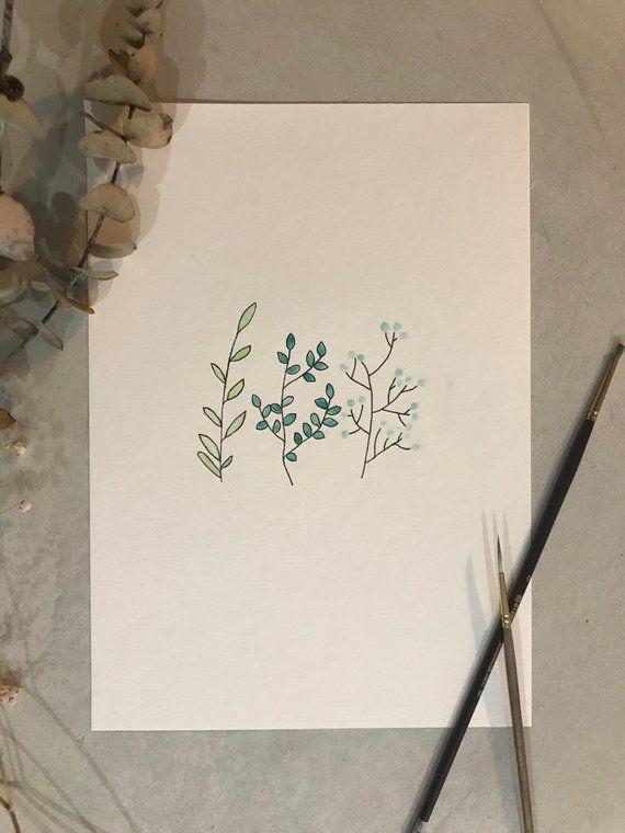Botanical Watercolour Botanical Prints Prints Watercolor