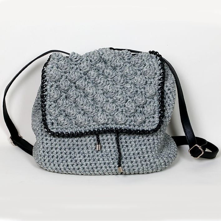 Handmade crochet backpack