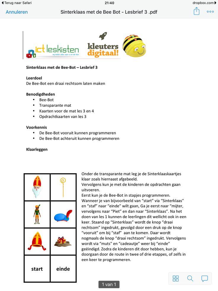 Les 3 Sinterklaas: http://www.kleutersdigitaal.nl/bee-bot-programmeerbare-robot/