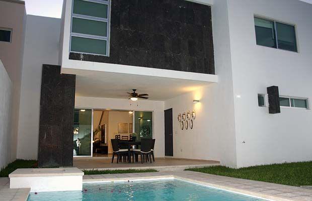 Decoraci n minimalista y contempor nea fachadas for Casa minimalista pinterest