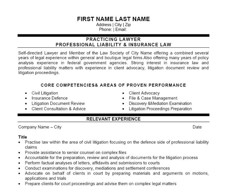 9 best Best Legal Resume Templates \ Samples images on Pinterest - sample of attorney resume