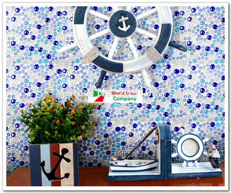 1BOX(11sheets)  Mediterranean Sea Style Glass mosaic tiles iridescent bathroom porcelain tiles sheet kitchen backsplash art deco - ICON2 Luxury Designer Fixures  1BOX(11sheets) # #Mediterranean #Sea #Style #Glass #mosaic #tiles #iridescent #bathroom #porcelain #tiles #sheet #kitchen #backsplash #art #deco