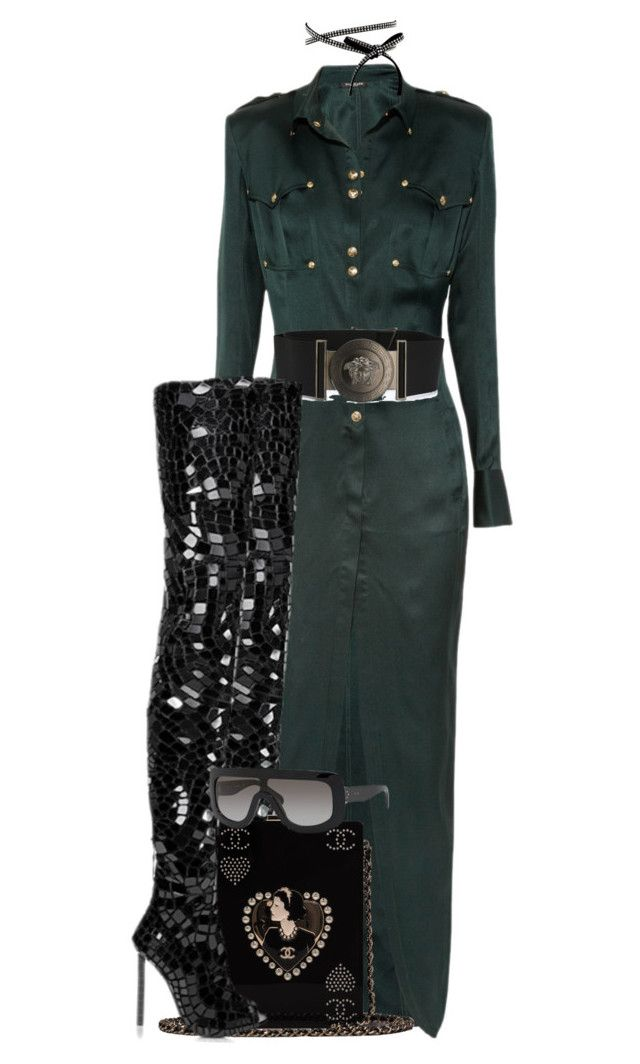 """Untitled #763"" by jetadorejas on Polyvore featuring Balmain, Versace, Tom Ford and Chanel"