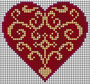 heart charts - Center motif, all over pattern or two motifs flipped together like a diamond. ...repinned für Gewinner!  - jetzt gratis Erfolgsratgeber sichern www.ratsucher.de