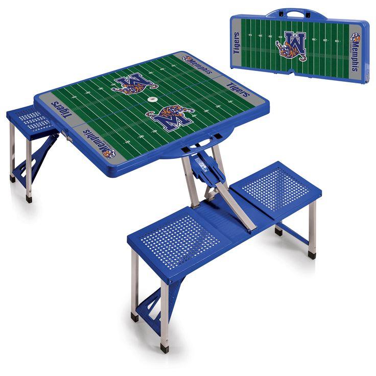 Memphis Tigers Blue Portable Picnic Table Sport