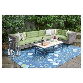 Aimee 6pc Sectional with Sunbrella Fabric