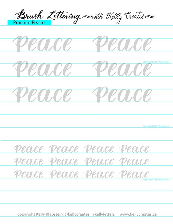 Free Christmas Peace Calligraphy Worksheet Ubungsblatt