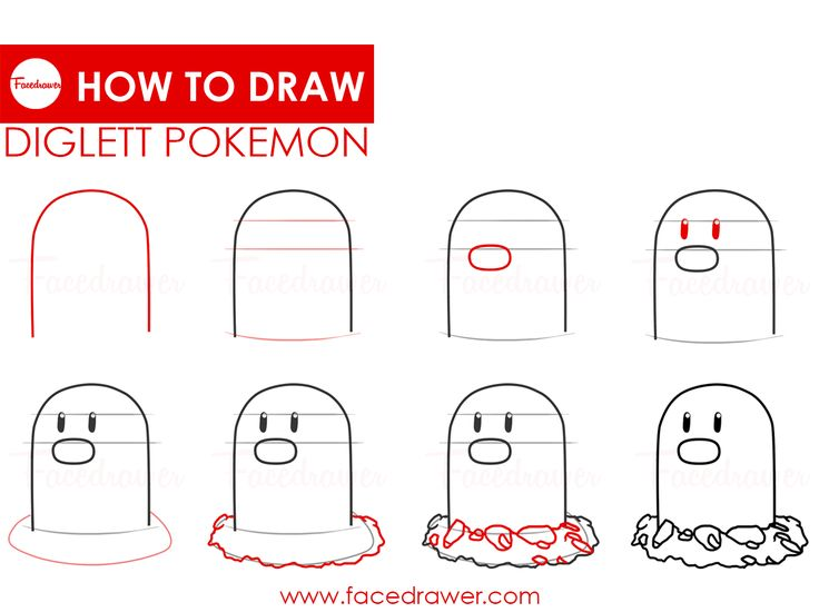 Diglett is your favourite Pokemon? Learn how to draw this very cute Diglett. Just follow along the easy steps and learn how to draw Diglett pokemon.