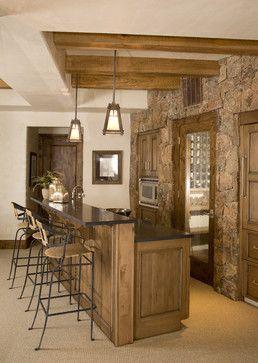 Elegant Stone Wall Basement Ideas