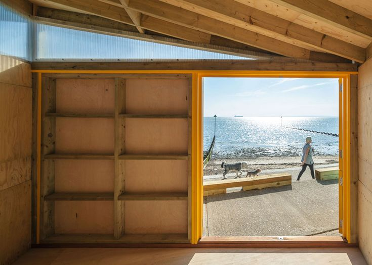New beach huts at Southend on Sea by Pedder & Scampton Architects