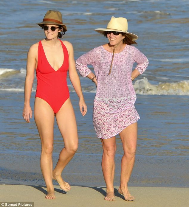 Rose Sclossberg and Caroline Kennedy in St. Barts, March '13