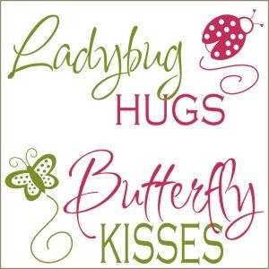 Cute Hugs and Kisses Graphics | 12112 ladybug hugs butterfly kisses vinyl decal ladybugs and ...