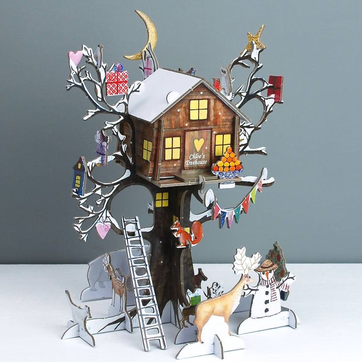 Personalised Festive Treehouse Advent Calendar