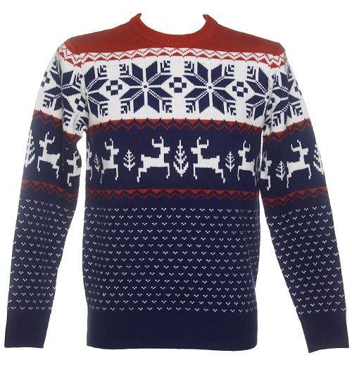 Unisex Blue Wonderland Knitted Christmas Jumper From Cheesy Christmas Jumpers : TruffleShuffle.com