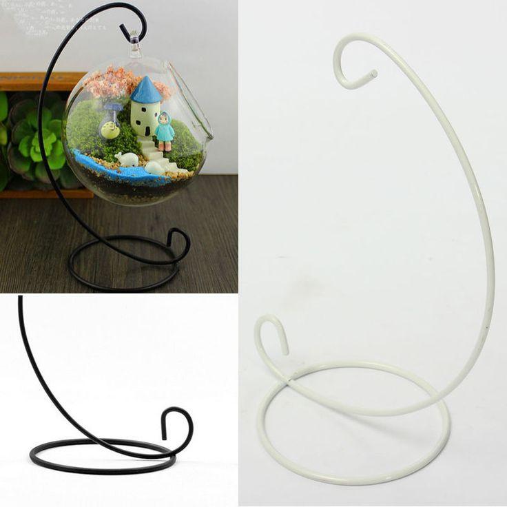 Hot iron hanging stand rack glass globe wedding gift ...