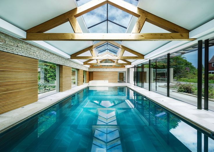 24 best exposed timber trusses images on pinterest - Houses in england with swimming pools ...