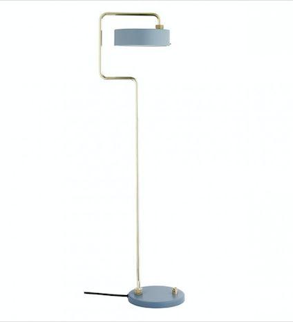 Design:Lindholdt Studio  Materiale:Stel i messing  Mål:H108 cm  Farve:Slate  E14 max 40W