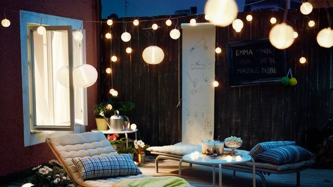 Inspiration déco : Idées lumineuses pour l'extérieur ! // http://www.deco.fr/diaporama/photo-terrasses-et-jardins-l-eclairage-cree-l-ambiance-46538/