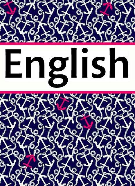English binder cover   Cool Crafts   Pinterest