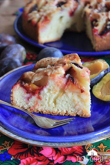 Łatwe i szybkie ciasto ze śliwkami   Tysia Gotuje