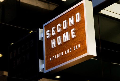 Second Home - blade sign