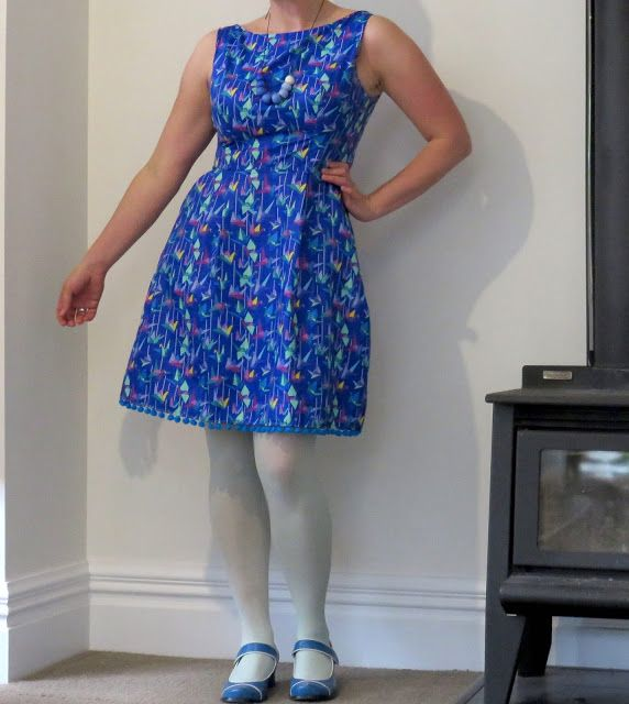 Create Hope Inspire: Origami Cranes Dress Belladone by Deer and Doe Ruby Dress by Simple Sew mash up