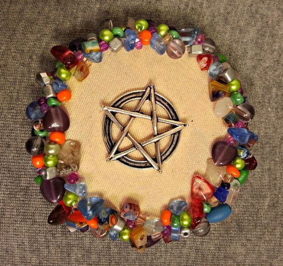 Pentacle decoration colourful pentacle wiccan by ColourMystic