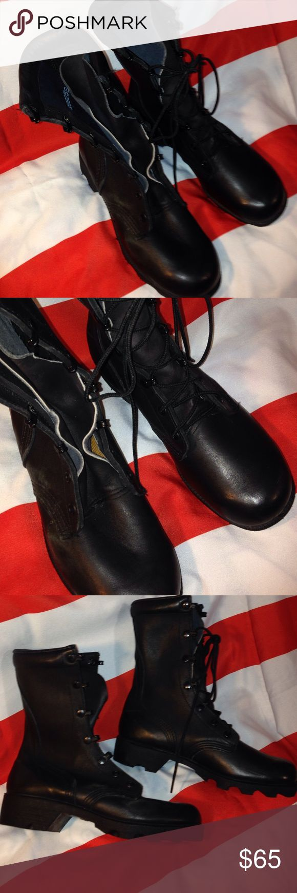 VTG MILITARY ISSUE Combat boots size 3 1/2R BLACK Combat boots size 3 1/2R BLACK missing shoe string Urban Outfitters Shoes Combat & Moto Boots
