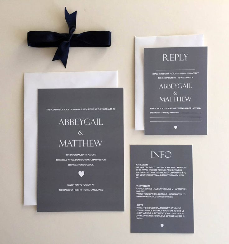 The 25 best Grey wedding reply cards ideas on Pinterest