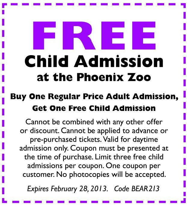Zoo deals in Phoenix, AZ: 50 to 90% off deals in Phoenix. Ticket to the Phoenix Zoo (Up to 23% Off). Admission for One Child or Adult to Wildlife World Zoo, Aquarium, & Safari Park (Up to 15% Off). $ for 1-Day Pass for One Adult or Child at San Diego Zoo Safari Park Through December 20 ($54 Value).