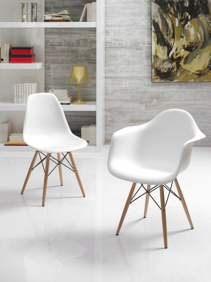 Silla Eames Réplica en color blanco.